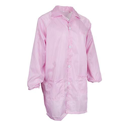 Tuta Antistatica Camice Protettivo Antipolvere Abbigliamento Da Laboratorio - Rosa
