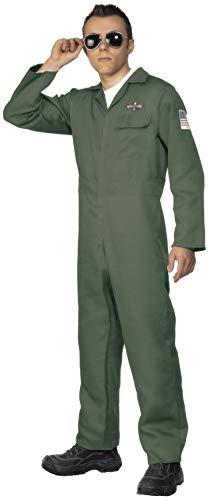 Smiffys Herren Flieger Kostüm, Jumpsuit, Größe: XL, 28623 (Flieger Kostüm Ideen)