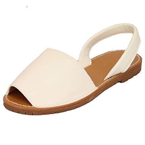 Anokar sandali donna eleganti spiaggia casuale infradito shoes estivi tacco basso peep toe ciabatte mare flat bocca di pesce cinturino alla caviglia scarpe espadrillas nero 34-44 wh39