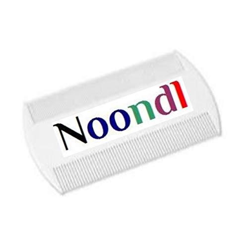 Noondl Peigne à lente double bord en plastique pour toute la famille Blanc