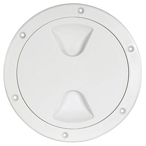 Osculati Inspektionsdeckel mit Gewinde und Dichtung, Farbe:weiß, Durchmesser:203mm