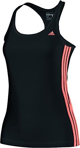 adidas Essentials Mid 3-Stripes Débardeur Femme black/flash orange s15