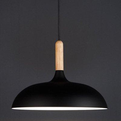 self-my éclairage de plafond de menuiserie de aluminium japonais personnalité créative Flying Saucer bois noire dining-living chambre 350* 230mm lampes de lustre