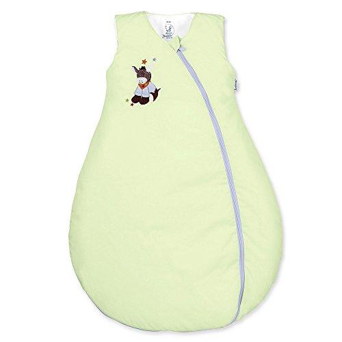 Sterntaler Schlafsack für Kleinkinder, Ganzjährig, Wärmeregulierung, Reißverschluss, Größe: 90, Emmi, Grün