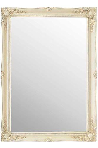 Frames by Post Extra große Warm Creme (Nicht EIN Used-Antik Finish) Shabby Chic rechteckiger Wandspiegel Spiegel mit hochwertigem Pilkington-Glas, extra groß Größe: 76,2x 106,7cm (77x 107cm) - Schwarz Cheval Spiegel