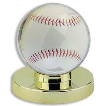 Ultra-Pro Gold Base Baseball Holder (Quantity of 6) by UltraPro