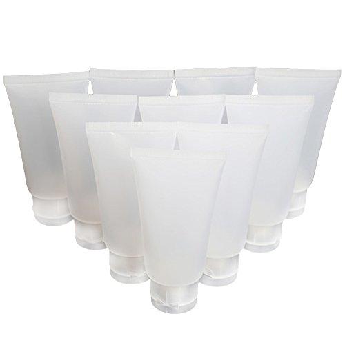 Vococal® 10 Stück 50ml Leeren Nachfüllbar Reisen Kunststoff Matte Flip Cap Körper Handcreme/Shampoo Squeeze Flasche -