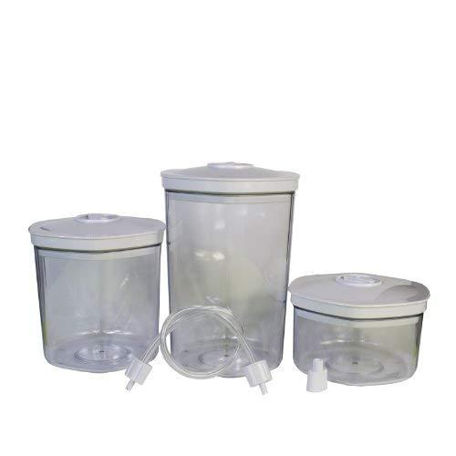 LACOR 69051 3 Vakuum-Behälter 0,7-1,4-2,0 L m/Konex