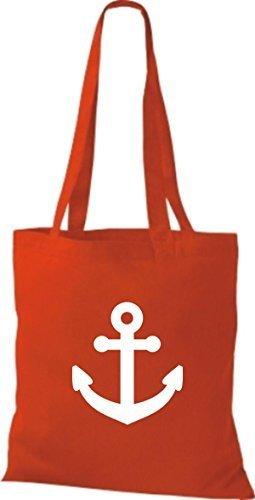 JUTA Borsa di stoffa per barca ancora SKIPPER CAPITANO Rosso
