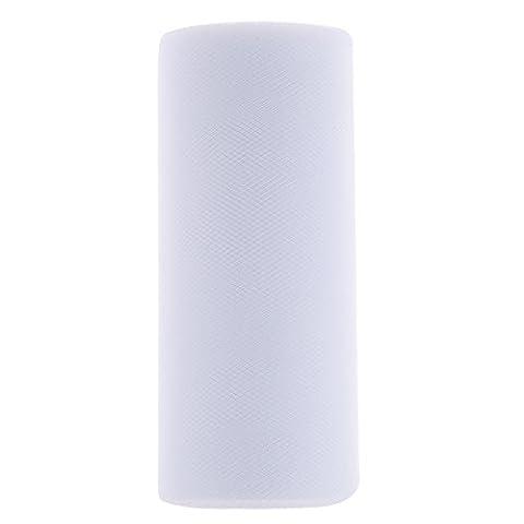 Tüllstoff Rollen Deko Hochzeit Tisch Geschenk Verpackung Hochzeit Party Bogen Tüllband Rollenspule 15cm*25 Yard - Weiß