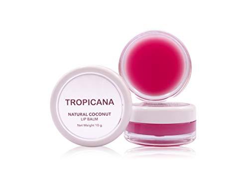 Tropicana Oil Doppel Packung Bio Lippenbalsam Pomegranate Joyful 2x10g | Kaltgepresstes Bio-Kokosöl...