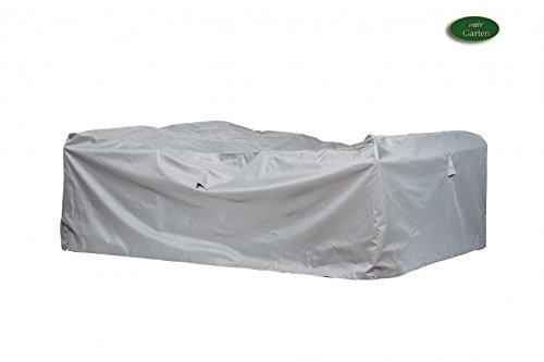 Housse de protection haut de gamme pour le groupe coin salon de polyester 600D oxford-gris clair 'mehr garten'- de-taille xXL 300 x 300 cm