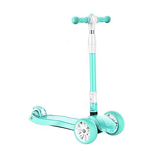 Kinderroller 3-6-10 Jahre altes Kind 4-Rad-Klapp-Flash-Baby-Roller (Farbe : A)