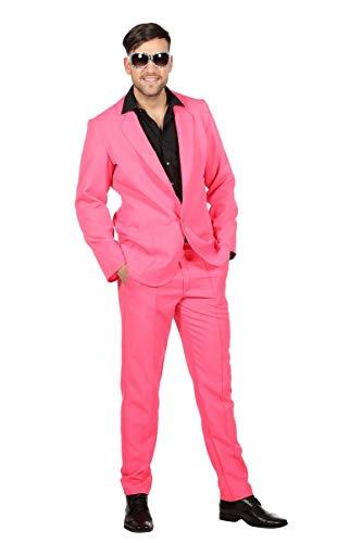 Preisvergleich Produktbild Wilbers 80er Jahre Kostüm Disco Discoanzug Anzug Herrenkostüm Karneval Fasching Pink Pink 50