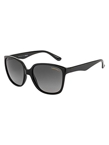 Farenheit Polarized Square Women's Sunglasses - (SOC-FA-2453-C1|54|Grey Color Lens)