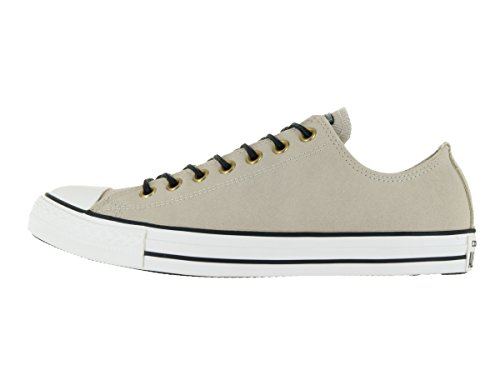 Converse All Star Ox Homme Baskets Mode Naturel cuir-gris