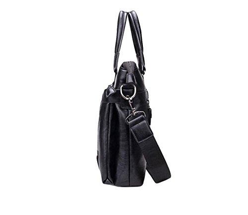 Business-Paket Aktenkoffer Männer Handtasche Umhängetasche Diagonale Paket Freizeit Mode Atmosphäre Brown1