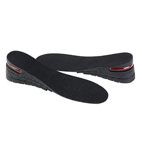 ROSENICE Plantillas Elevadora Aumenta Altura Plantillas Alzas De Zapato 6CM (Negro)