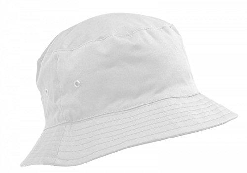 Adventure Togs Fischerhut/Sonnenhut für Kinder-8-11 Jahre, für Jungen & Mädchen, 100% Baumwolle, Gr. 56 cm, weiß