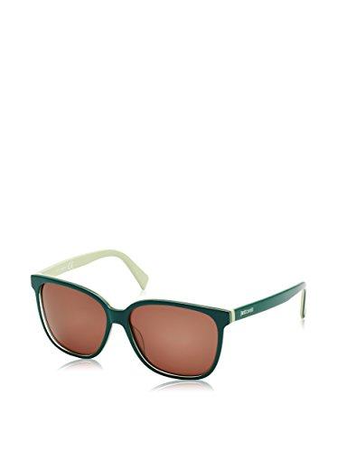 Just Cavalli Unisex JC645S Sonnenbrille, Grau (Shiny Dark/Light Green), One size