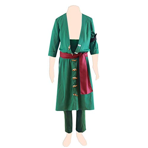 Roronoa Cosplay Zoro Kostüm - Dream2Reality One Piece Cosplay Kostuem Roronoa Zoro Ver.2 Suits XXX-Large