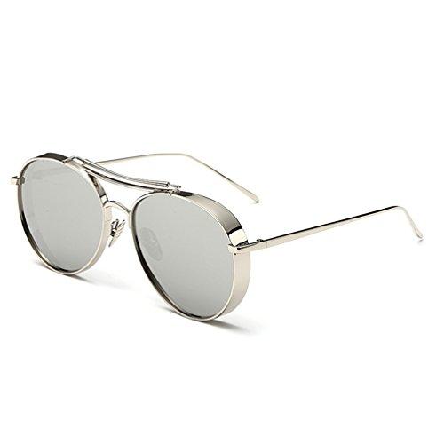 ZQ 2018 Neue Sonnenbrille Männer Fahren Flut Persönlichkeit Polarisierte Sonnenbrille Weibliche Modelle Lange Runde Gesicht Gläser