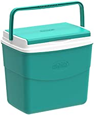Cosmoplast Keep Cold Plastic Picnic Cooler Icebox, Green, 10 Liters, MFIBXX080TG