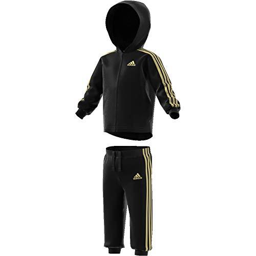 adidas Baby-Jungen I Shiny Fzhd J Trainingsanzug, Schwarz (Negro/Dormet), 74 (Kind Trainingsanzüge)