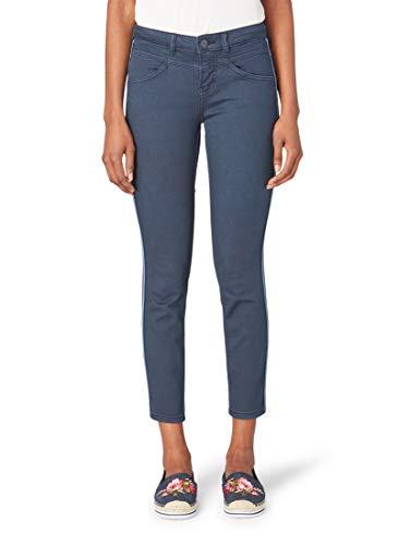 TOM TAILOR für Frauen Jeanshosen Alexa Slim Jeans in Ankle-Länge Real Navy Blue, 33/32 - Frauen Blue Denim