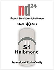 40 x FRENCH Maniküre SCHABLONE Halbmond - French Nail - French Nagel-Sticker - French Linie - Smile Line