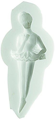 71.328.00.0096 Backform für Kuchen SLK228 Tänzerin, Silikon, Weiß
