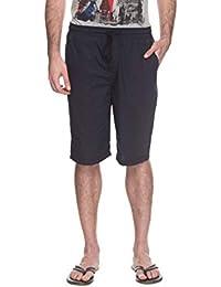 Bare Denim By FBB Solid Bermuda Shorts DEEP RED