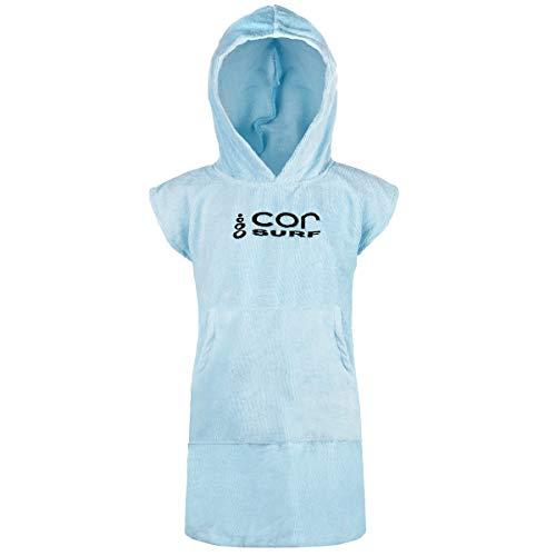 Cor Infantil Poncho toalla Robe luz oscuro azul edades