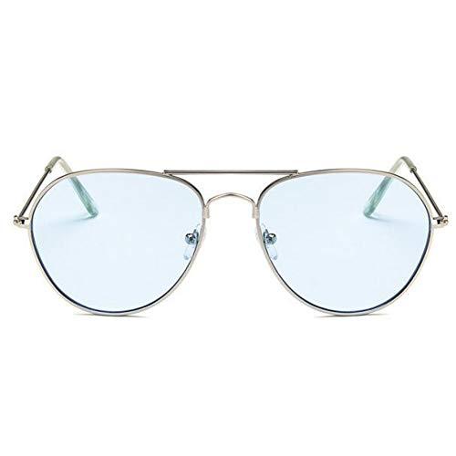 CCGSDJ Aviaton Transparente Sonnenbrille Frauen Männer Ozean Transparente Sonnenbrille Candy Farbe Eyewear Pilot Gelb Objektiv Gläser