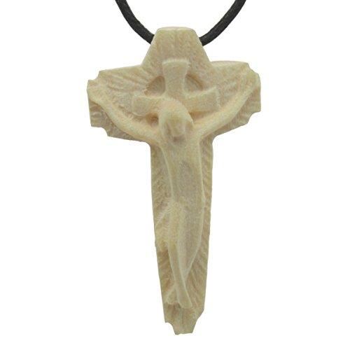 Schmuck Anhänger Holz Kreuz irisch, Halskette Kruzifix Holzkreuz 4cm