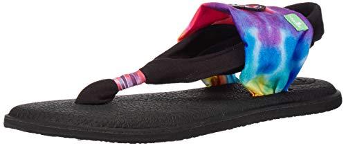 Sanuk Damen Yoga Sling 2 Sandale, Tie Dye/Grateful Dead, 38 EU (Tie-dye-sling)