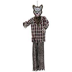 Hombre lobo de halloween REMUS con función de sonido, LEDs, 160cm - Licántropo / Fiesta terrorífica - showking
