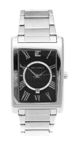 Ted Lapidus 5106601 - Reloj de pulsera hombre, Acero inoxidable, color Plateado