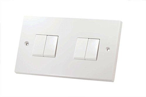 4 GANG 2 WAY LIGHT SWITCH WHITE PLASTIC LG204 by LGAPR