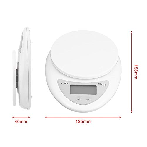ZHANGYUGE Ceagr Küchenwaage 5Kg X 1G-Ernährung Post Digitale Waage Balance Gewicht Elektronische Waage Gewichtung Elektronische Waage Led