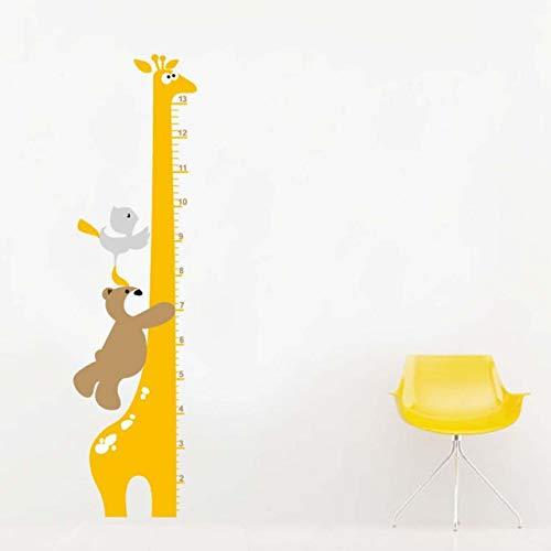 Wandaufkleber cartoon bär giraffe höhe aufkleber diy abnehmbare wandaufkleber kinderzimmer kindergarten wohnkultur wandbild aufkleber -