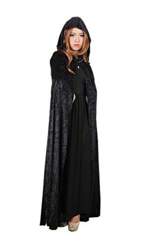 Sensenmann Umhang Karneval Fasching Kostüm Tod umhänge Cosplay Hexen Robe (Der Sensenmann Halloween-kostüm)