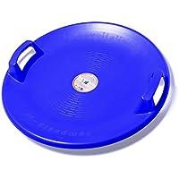 Snowfizz Disco Neve per Discesa con Maniglie Diametro 60 Cm plastica Antiurto Made in Italy (Blu)