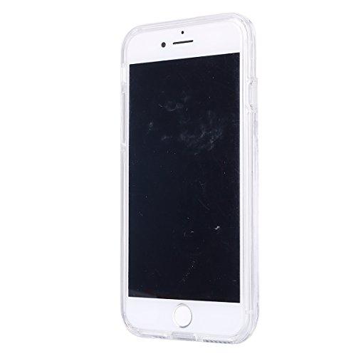2017 Ekakashop iphone 7 4.7 pollici Custodia, 2-in-1 ultra sottile-Fit molle flessibile di caso Cover posteriore per iphone 7, Ragazza Ragazzo Crystal Clear Soft Cover gel TPU Silicone Protezione Sott B #5