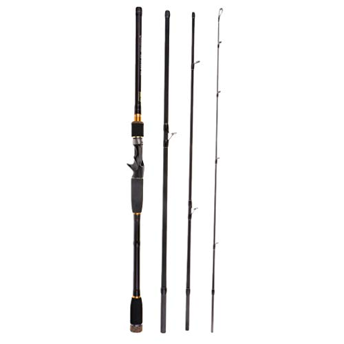 CUTICATE Baitcast Casting Rod 4 Teilig Angelrute 10 25g Lure Weight Travel Lure Rod - 2,7 cm