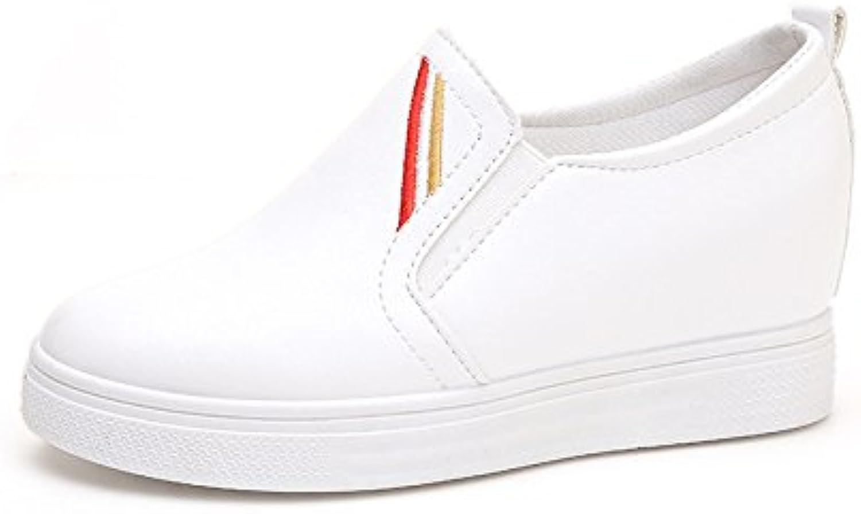 El paso de un pie de espesor, aumentando la pereza Zapatos Zapatos, blanco 38