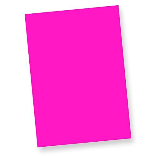 NEON DIN A4, 80 g/qm farbiges Briefpapier, Leuchtpapier, 100 Blatt - Pink (Neon-pink Papier)