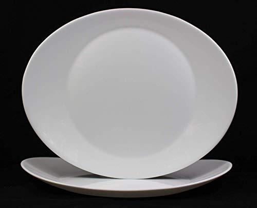 Fitting Gifts Bistro Collection Plat de Service Prometeo de Forme Ovale, Blanc Brillant