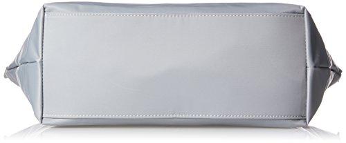Tommy Hilfiger Poppy Tote, Borsa a Tracolla Donna, 14 x 32 x 47 cm (W x H x L) Grigio (Sharkskin)