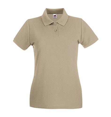 Premio Camicia Polo Donna Shirt Lady-Fit Poloshirt Bottle Green